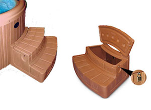Step N Stow Rounded Spa Steps With Storage